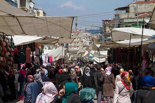Le marche carsamba de fatih istanbul
